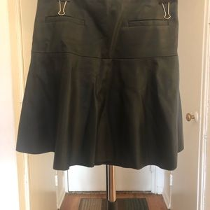 Club Monaco faux leather skater skirt